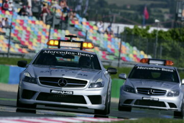 Formel 1, Grand Prix Frankreich 2008, Magny-Cours, 22.06.2008 F1 Safety Car, Mercedes-Benz SL 63 AMG F1 Medical Car, Mercedes-Benz C 63 AMG
