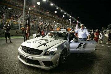 Formel 1, Grand Prix Singapur 2008, Singapur, 28.09.2008 Startaufstellung F1 Safety Car, Mercedes-Benz SL 63 AMG Christof Ammann, CAN